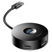 Хаб Baseus Round Box HUB Adapter USB 3.0 to USB3.0х1+USB2.0х3