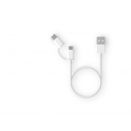 Кабель Xiaomi Mi 2-in-1 USB Cable Micro USB to Type C (100cm)