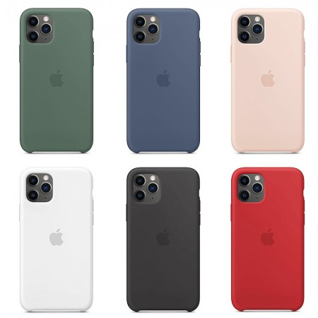 Аксессуары для iPhone APPLE iPhone 11 Pro Max Silicone Case - (PRODUCT)RED,Pink Sand,Black,Pomegranate